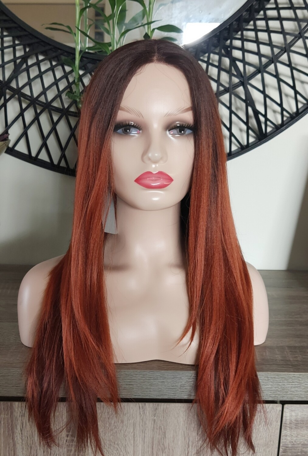 Rich Copper Ombre Layered Lace Front