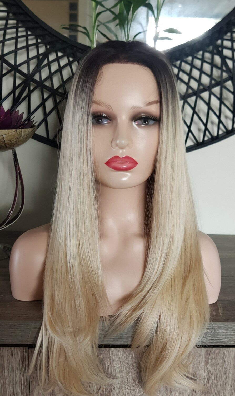Platinum Blonde Ombre Lace Front