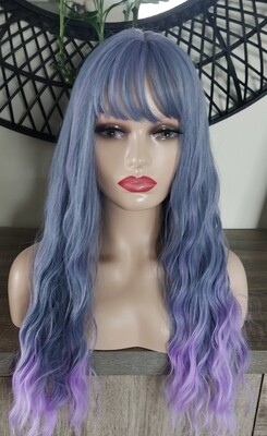 Purple Water Wave with Fringe
