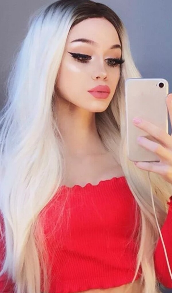 White Blonde Ombre Straight