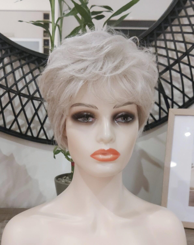 Ash Blonde 50% Human Hair Pixie Cut