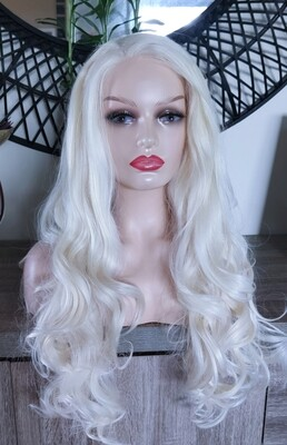 White Blonde Wavy Lace Front