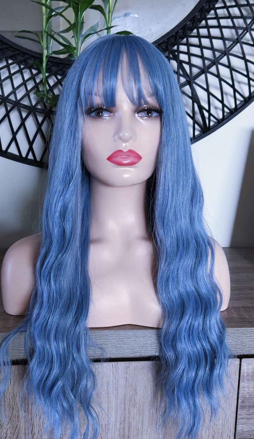 Blue Water Wave with Fringe