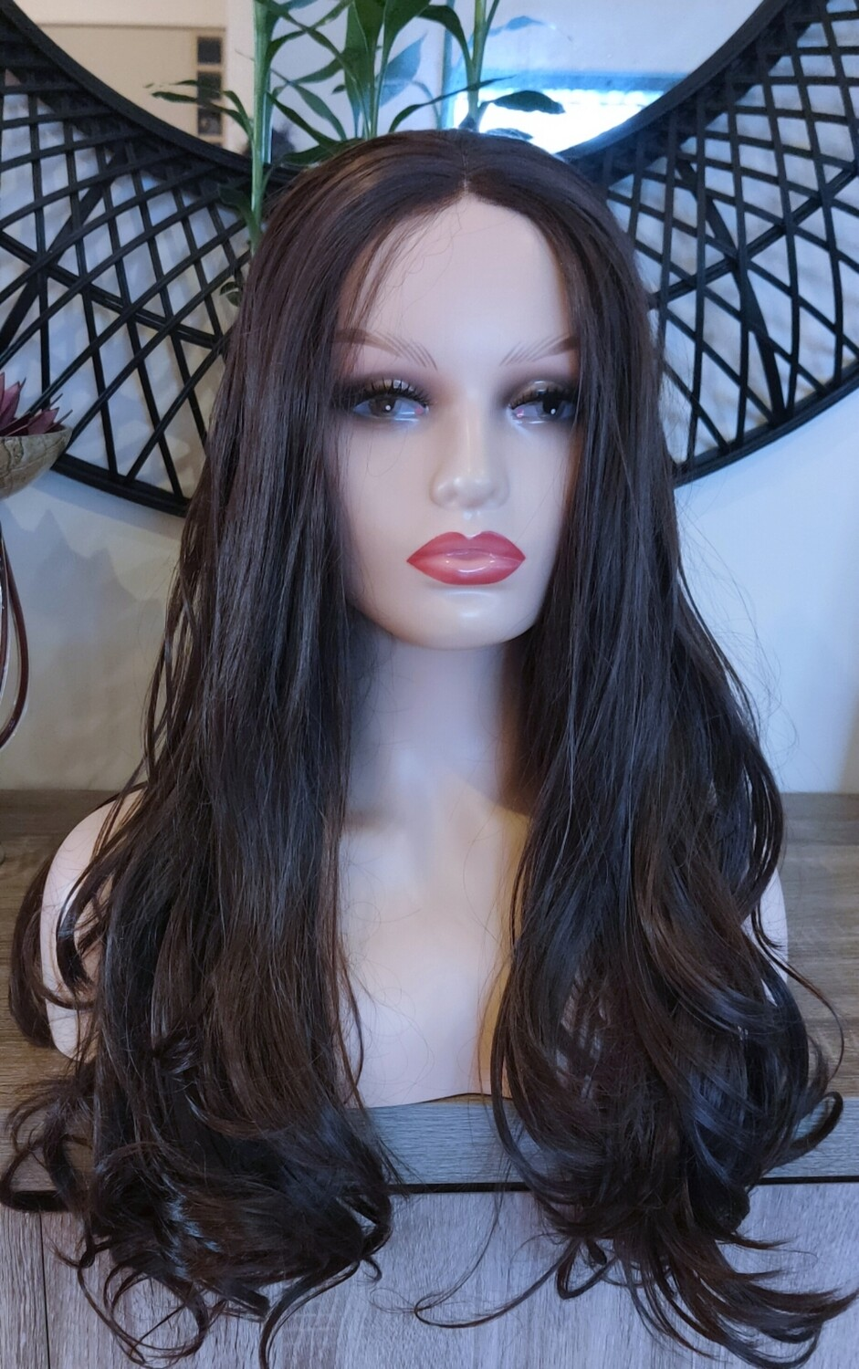 Rich Brown Lace Front Wavy