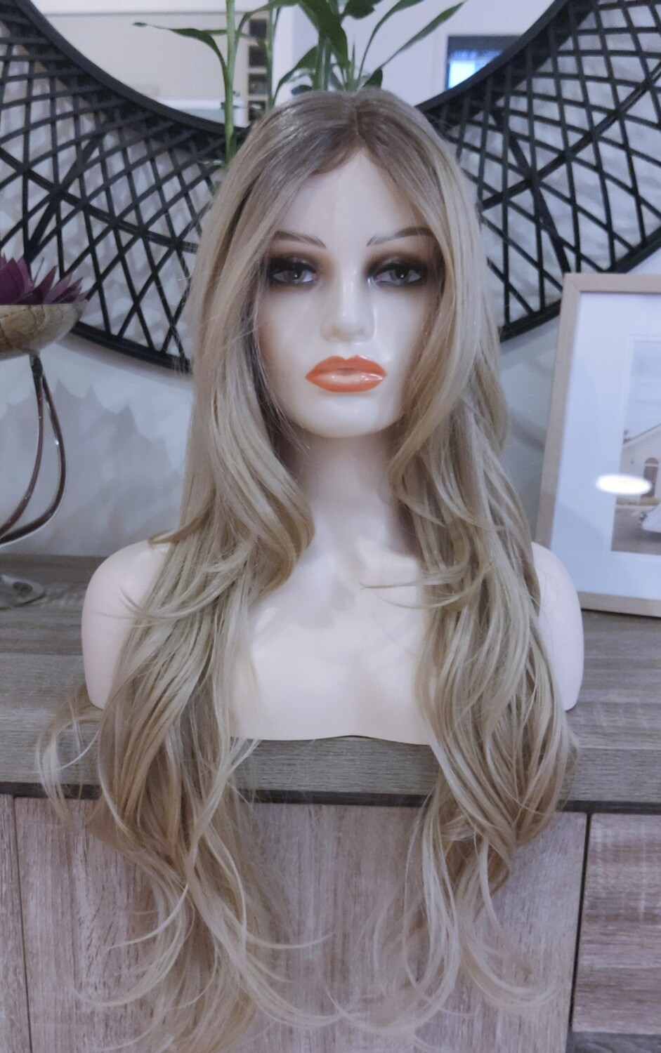 """Ombre Blonde Layered Soft Wave Lace Front 28"""""""