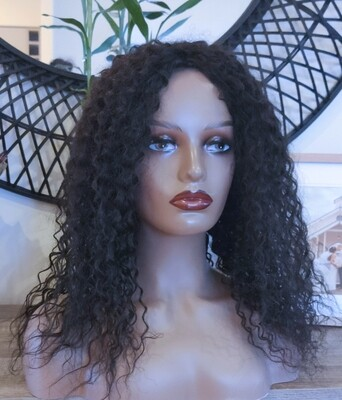 Black Human Hair Blend Lace Front