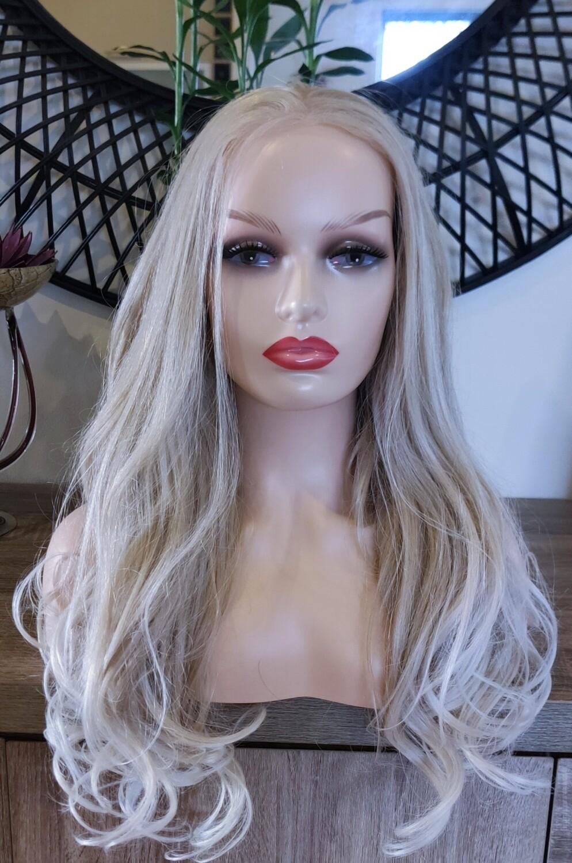 Ash Blonde Lace Front Free Part
