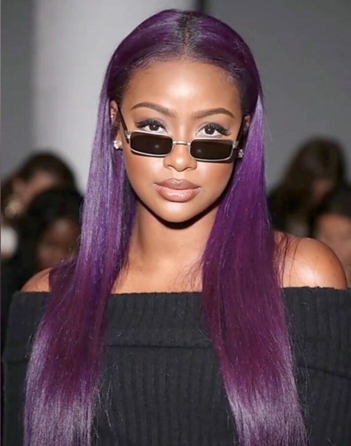Purple Human Hair Lace Front