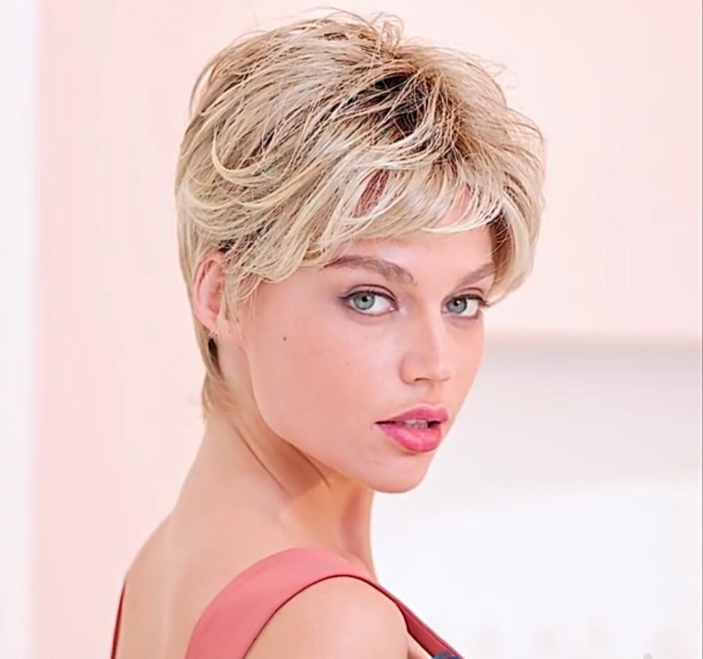 Light Blonde Ombre Lace Front Pixie Cut