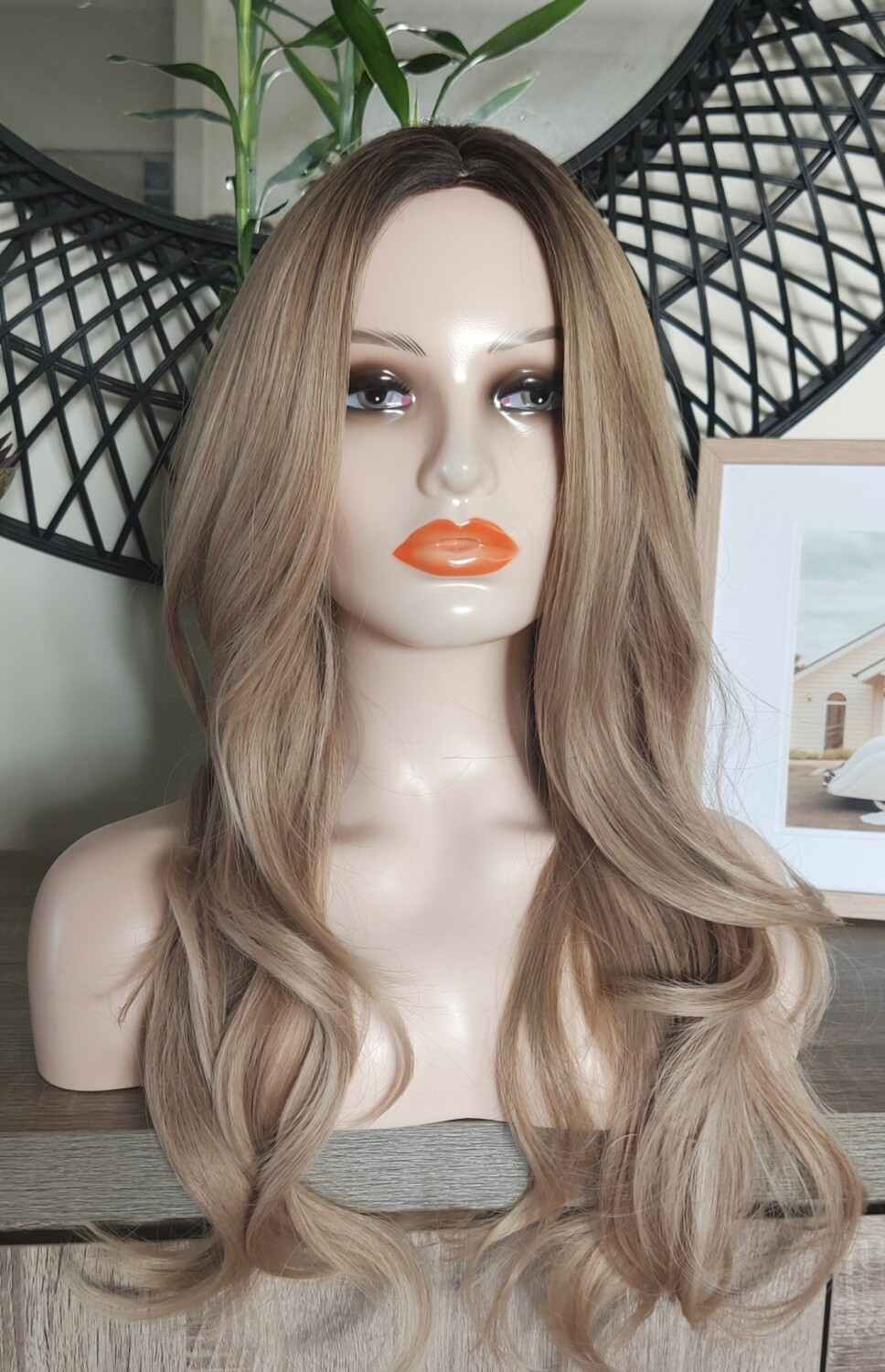 Honey to Blonde Ombre Balayage Soft Wave
