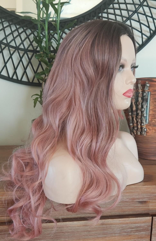 Dusty Pink Ombre Wavy