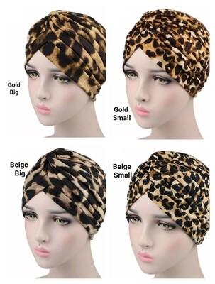 Leopard Print Turban Cap