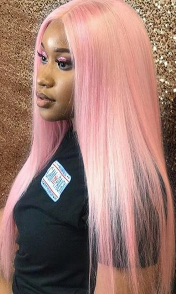 """Baby Pink Lace Front 26"""""""