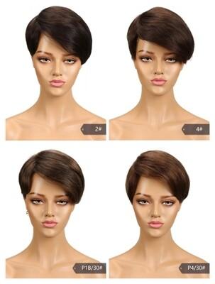 Sleek Human Hair Pixie Cut