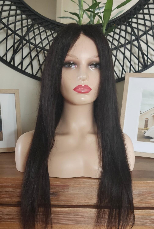 Centre Part Black Human Hair Lace Front
