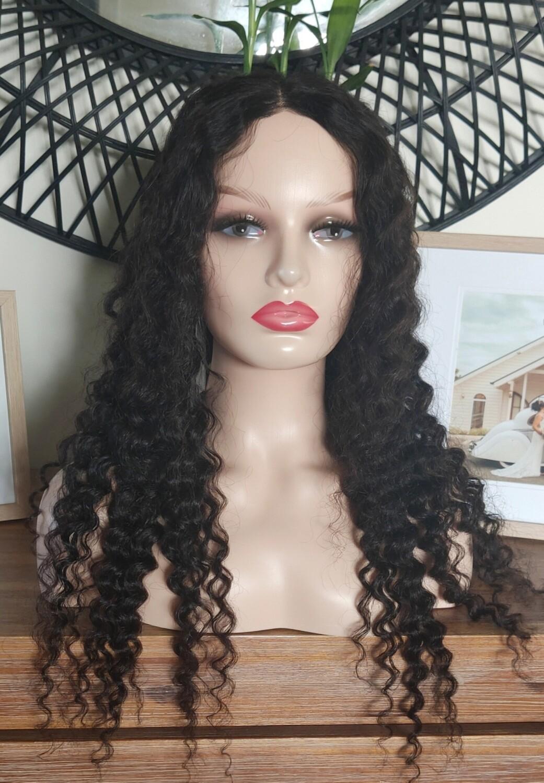 Black Deep Curls Human Hair Lace Closure