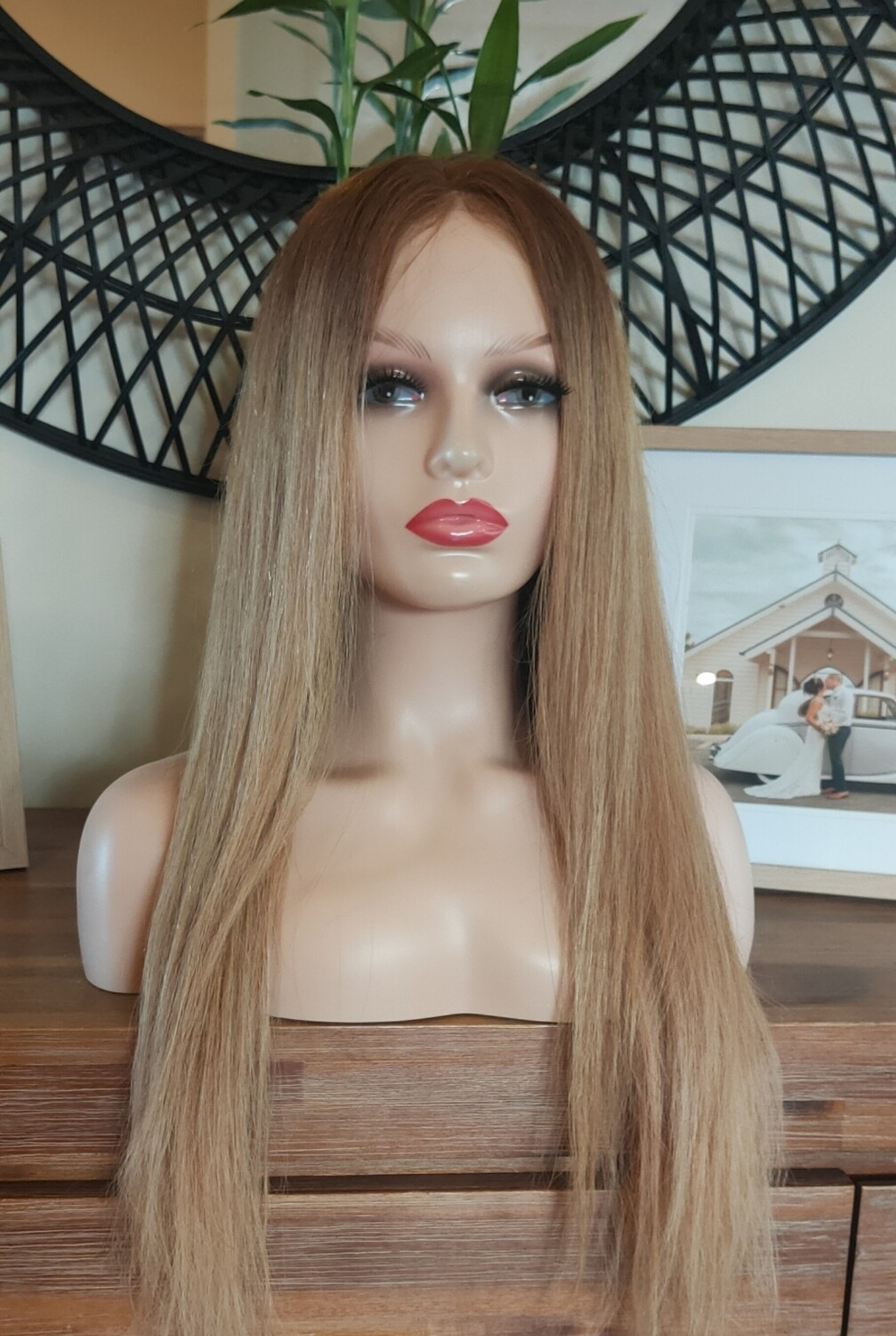 Honey Blonde Ombre Human Hair Lace Front