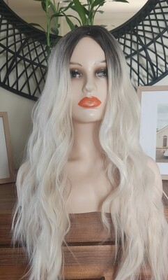 White Blonde Ombre Beachy Wave