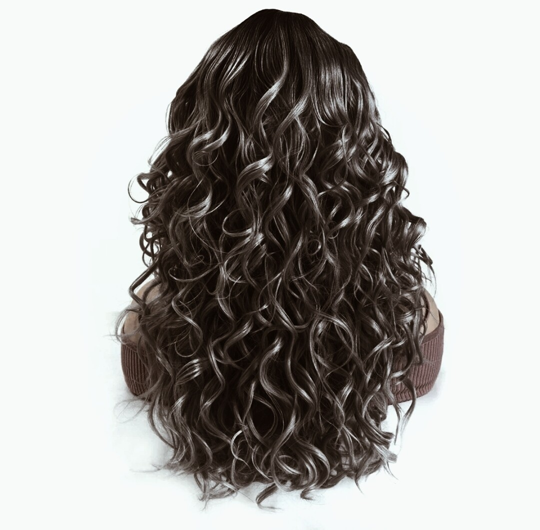 Dark Brown Curly Lace Part