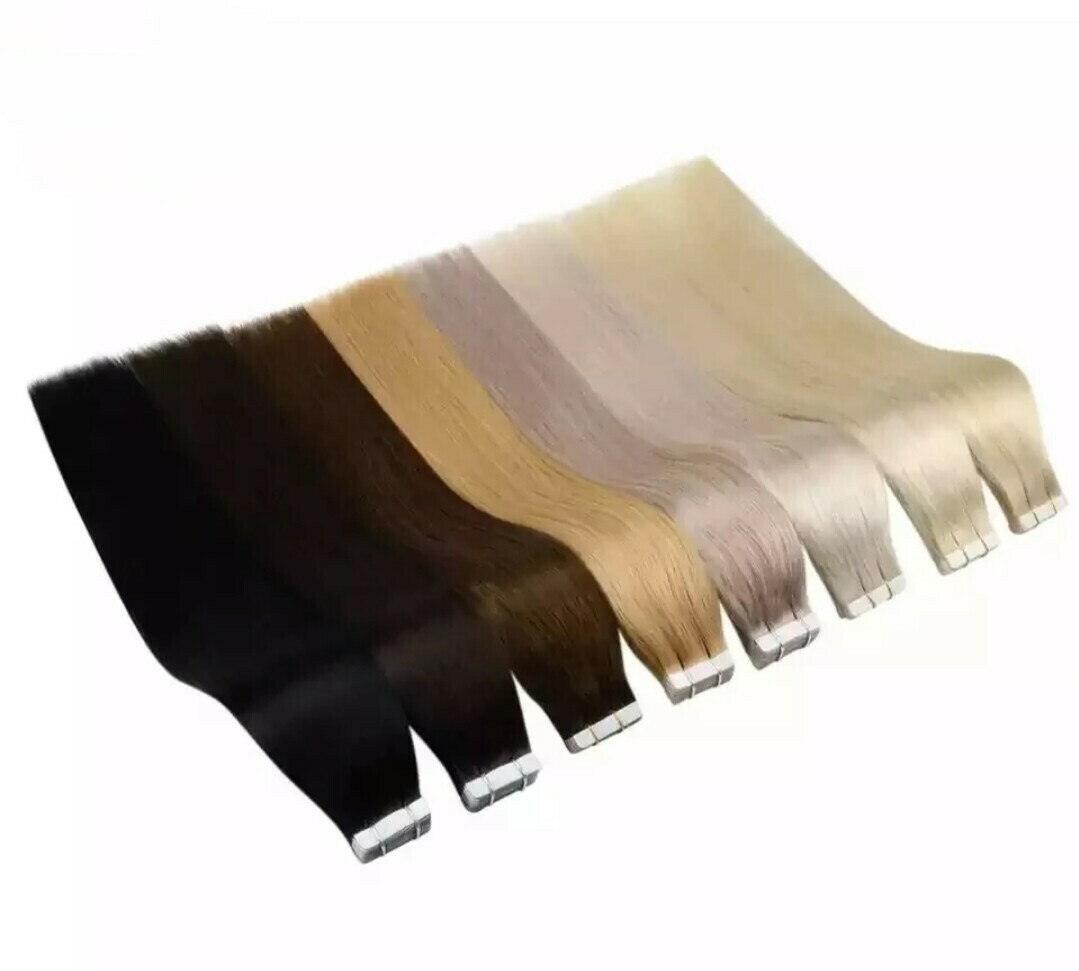 """Tape Extensions Russian Double Drawn Invisible Tape 24"""" (40 PCS/ Full Head)"""