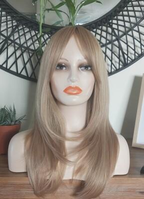 Dark Blonde Layered with Fringe