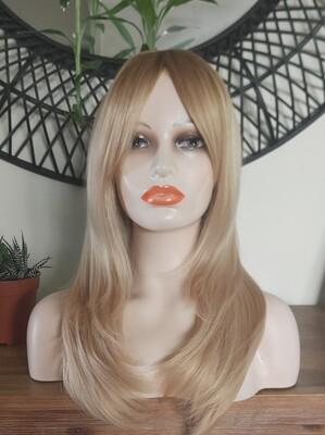 Blonde Balayage Layered with Fringe