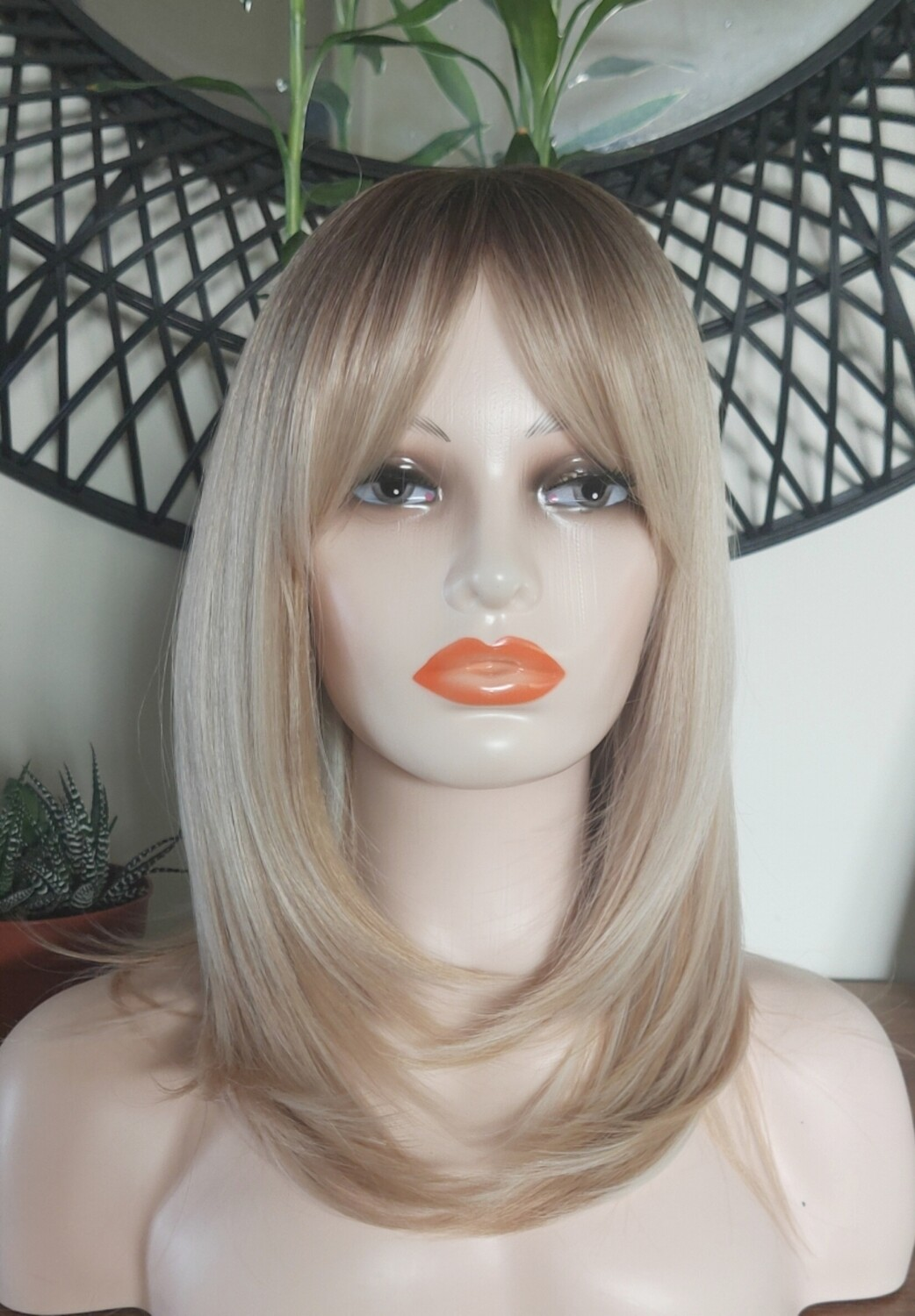 Blonde Mix Ombre Layered with Fringe