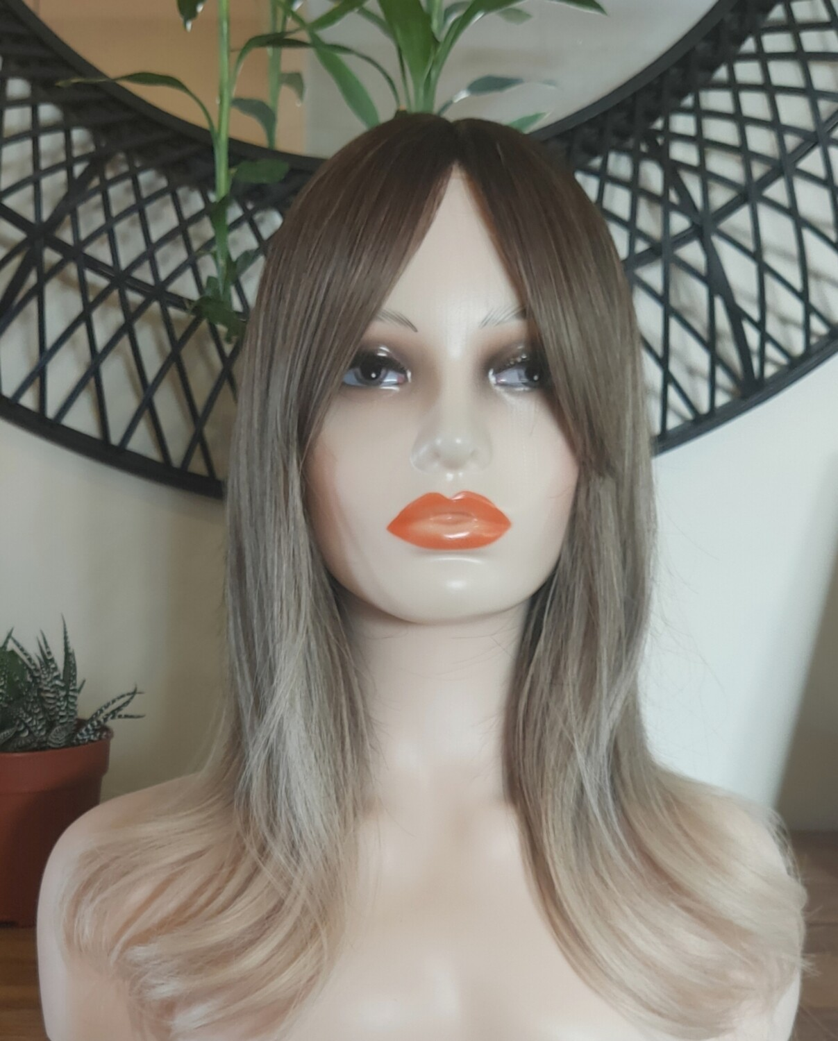 Ash Blonde Ombre with Fringe