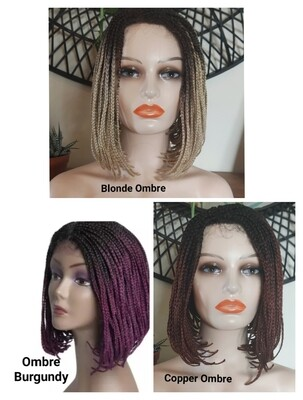Ombre Lace Front Box Braid Bobs