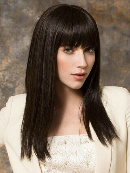 Dirty Brown Silky Straight with Fringe