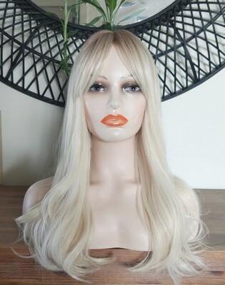 Platinum Blonde Ombre with Fringe