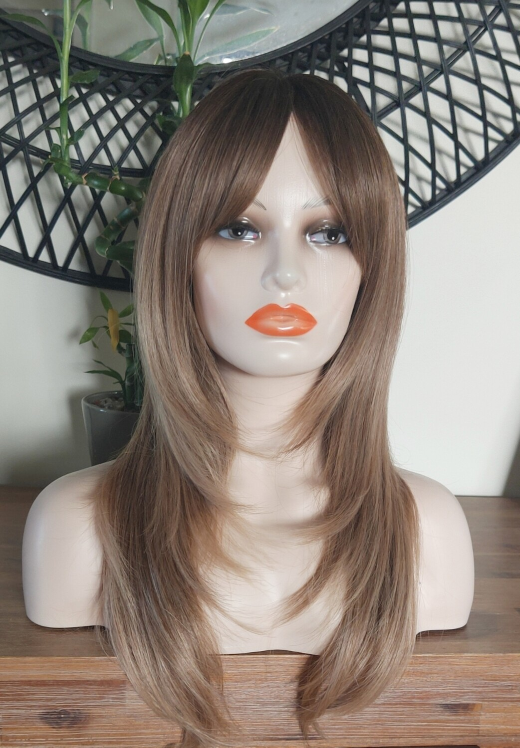 Brown Ombre Layered with Fringe