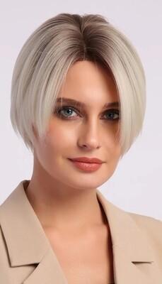Platinum Blonde Ombre Bob