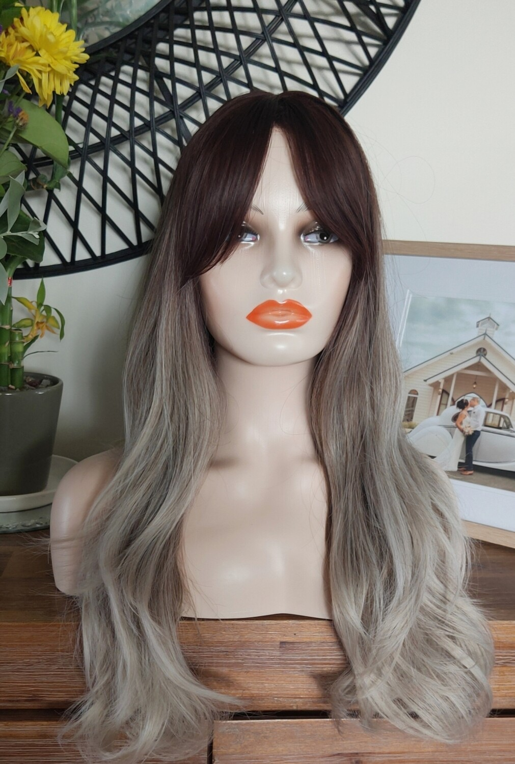 Ash Ombre Soft Wave with Fringe