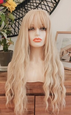 Blonde Water Wave with Fringe
