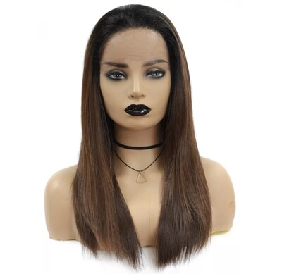 Chocolate Brown Free Part Lace Front Pre Plucked Hair