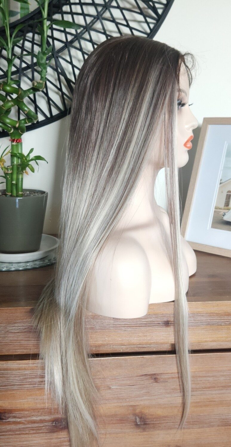 Balayage Brown to Ash Blonde Lace Front