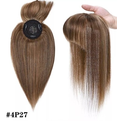 """Toppers - Human Remy Hair with Fringe 12"""""""