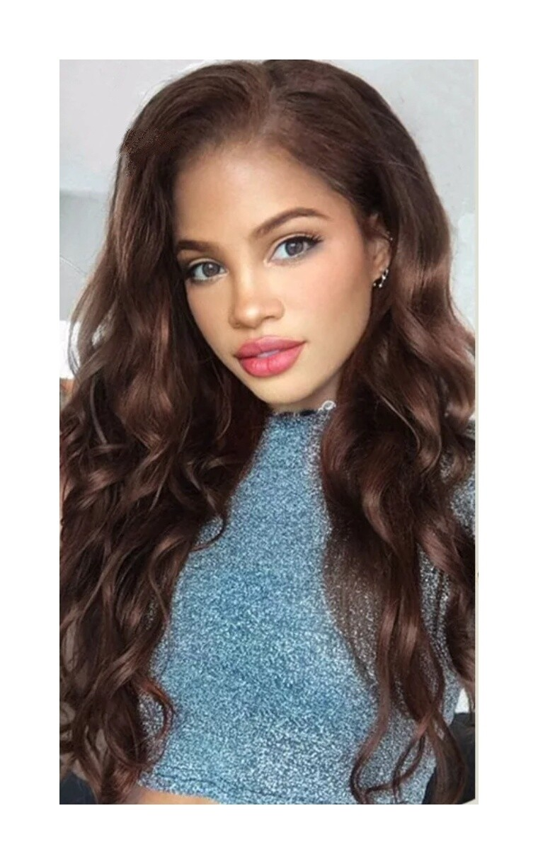Medium Brown Human Hair Body Wave Lace Front