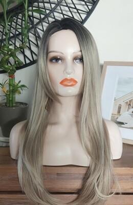 Blonde Dark Roots Side Part