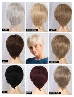 Various Human Hair Blend Pixie Cut