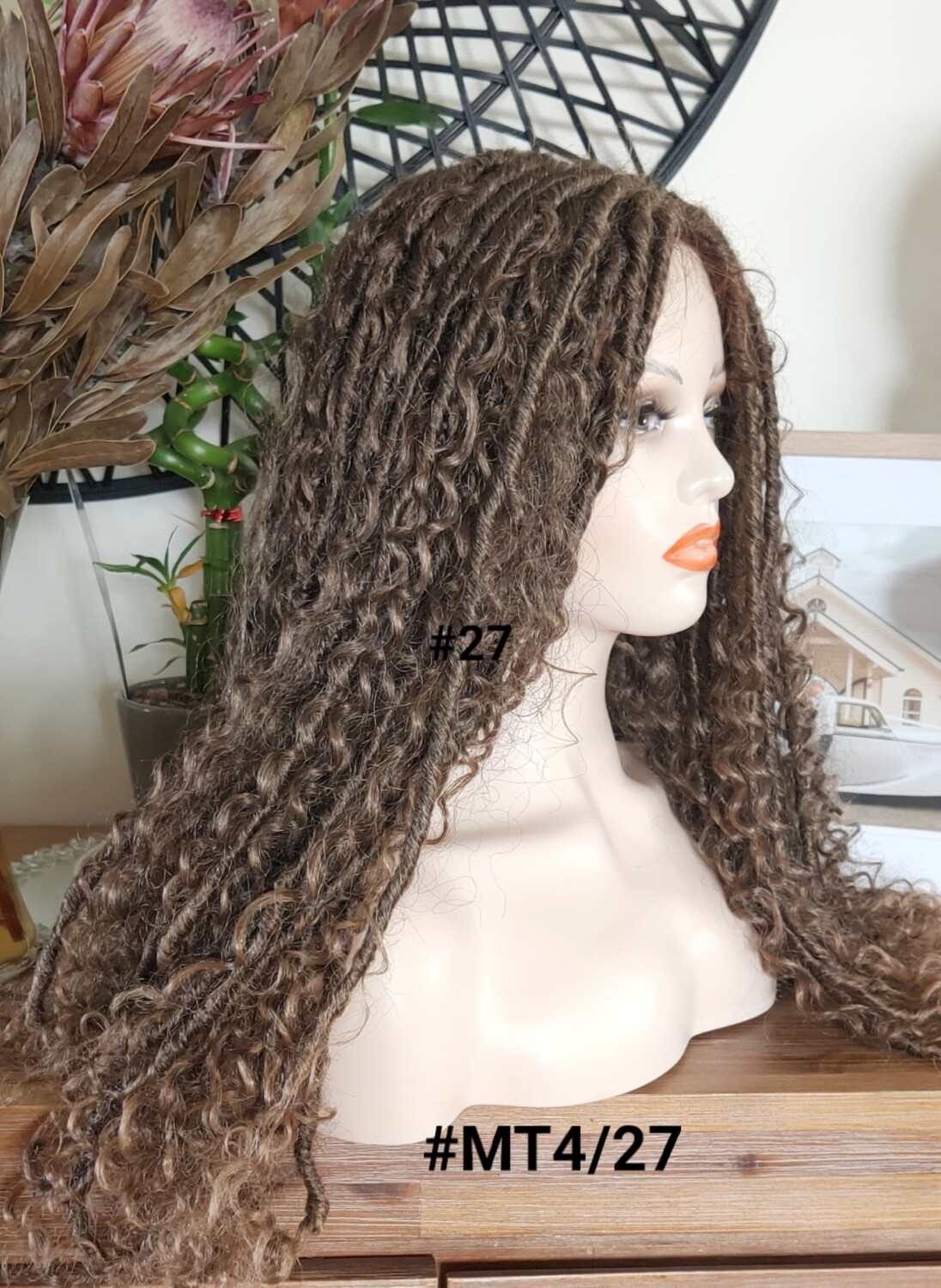 Crochet Braided Soft Dreadlock Lace Front - Two Colours