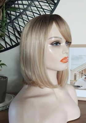 Blonde Ombre Bob with Fringe