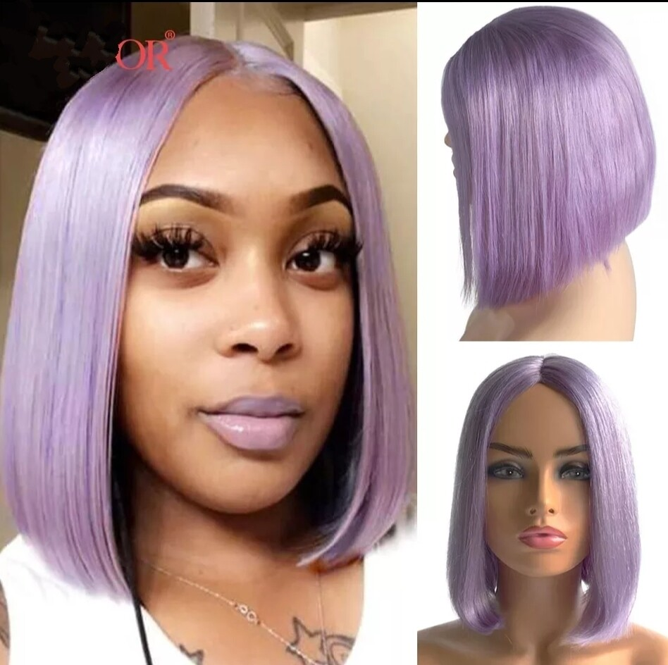 """Colours Human Hair Lace Front Bobs 12"""""""