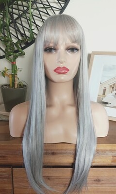 Silky Silver with Fringe