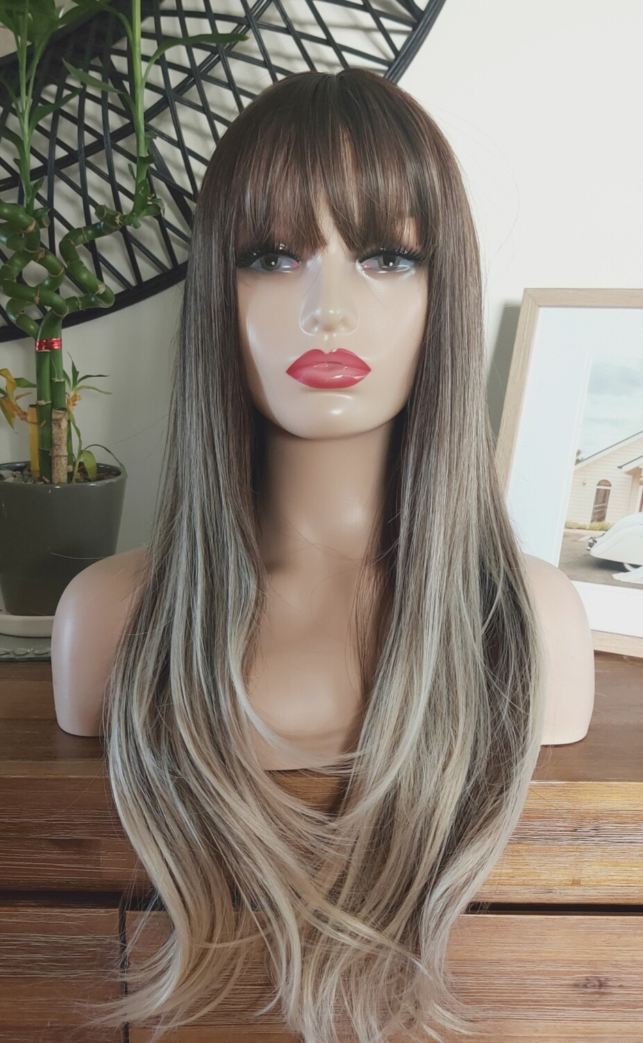 Ash Ombre Layered with Fringe