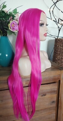 Hot Pink Long Lace Front