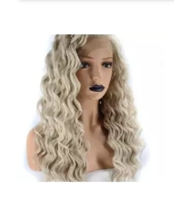 Ash Blonde Tight Curl Lace Front