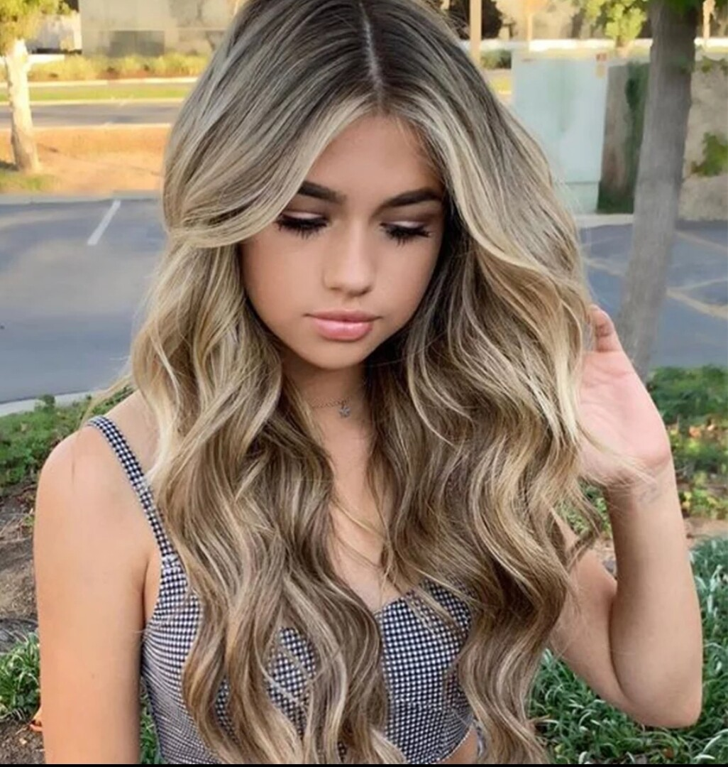 Natural Blonde Ombre Side Part Lace Front