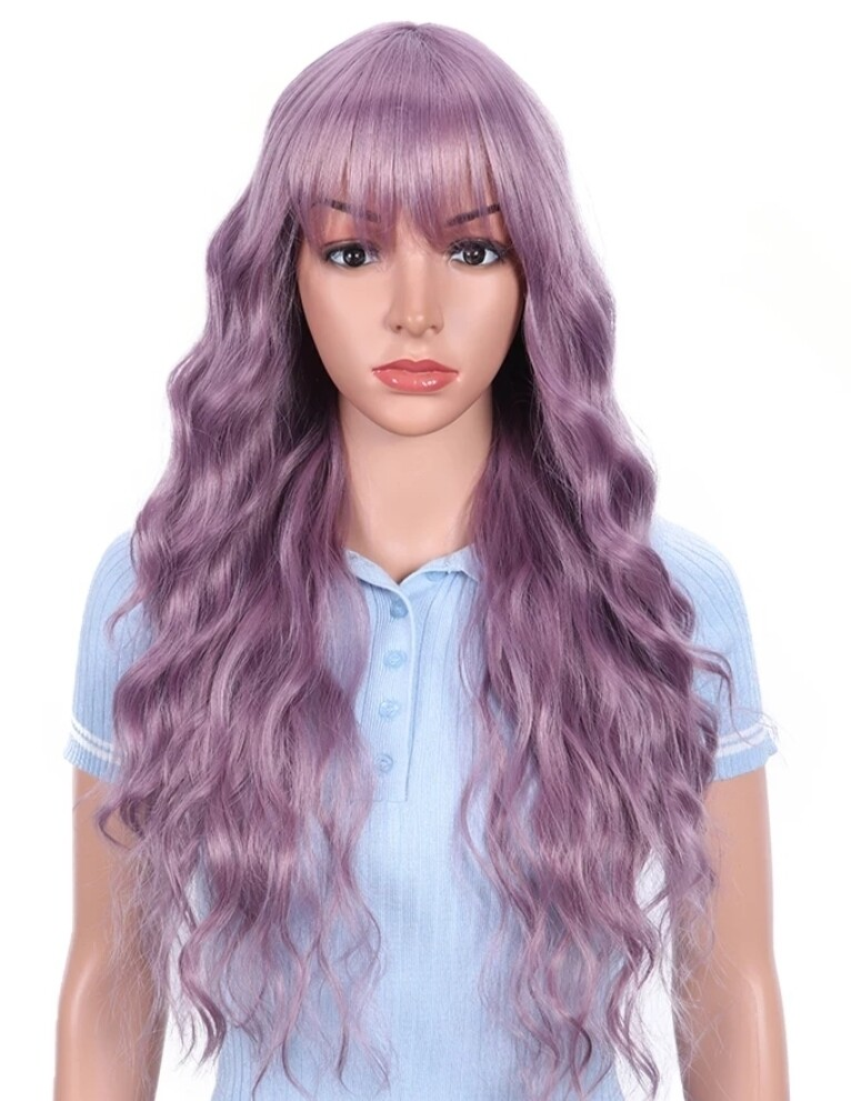 Light Purple Water Wave with Fringe